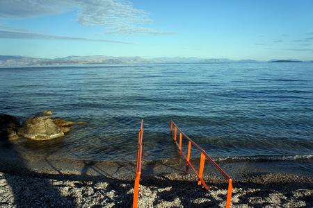 Corfu Island.The sea before sunset.