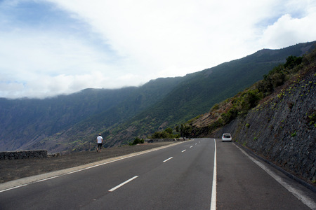Picturesque road on the island of El Hierro.