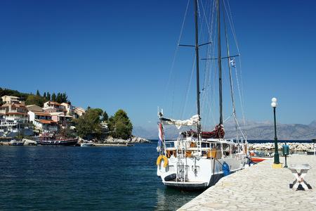 Corfu Island.Kassiopi Bay.