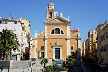 Corsica.Ajaccio.The church where Napoleon was baptized.