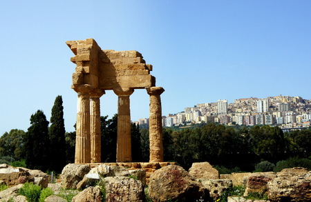 Temples Valley.Agrigento. Stock Photo