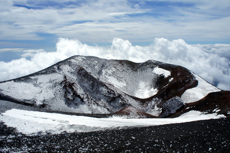 One of the tyhe craters of Etna.