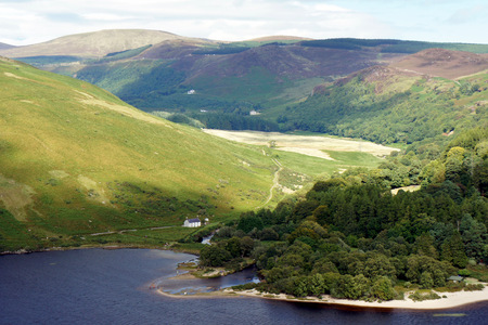 The place where the Cloghoge River flows into the Lough Dan.