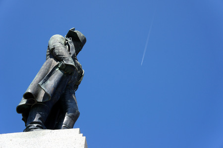 The Napoleon Bonaparte on the background of the cloudless sky in his homeland in Ajaccio.