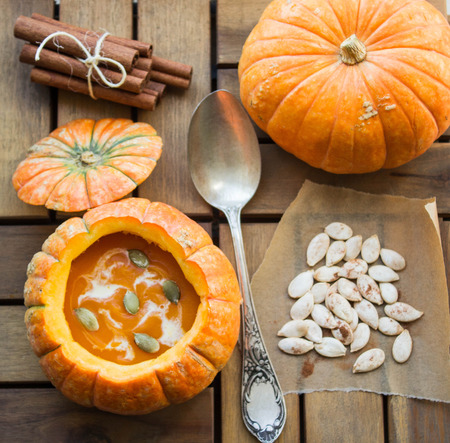 pumpkin soup with herbs and spices