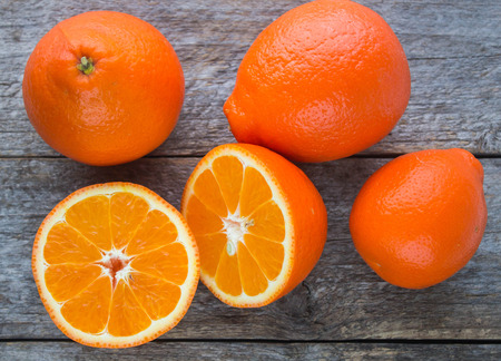Sweet oranges fruits( mineola) Stockfoto