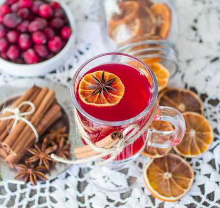 cranberry mulled wine photo