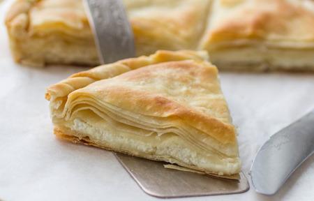 Tiropita - Greek pie made of Filo dough with cheese  Feta