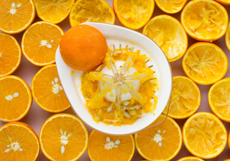 Oranges and manual juicer