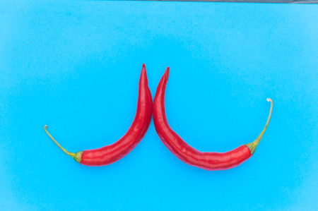 pop art red pepper Stock Photo