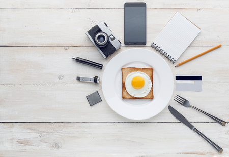 perfectionist: Still breakfast perfectionist hipster Stock Photo