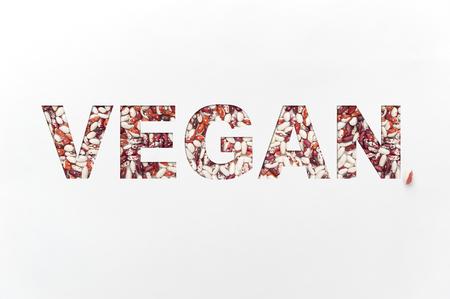Bohnenfleischersatz. das Konzept der vegetarischen Kost.