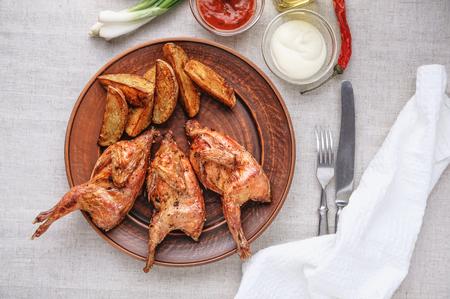 quail: Homemade eco-friendly cooked quail