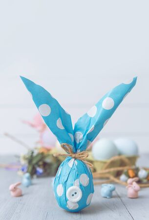 easter bunny easter gift concept. do-it-yourself idea for Easter.