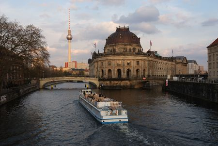 The view on Bode museum in Berlin, Germany