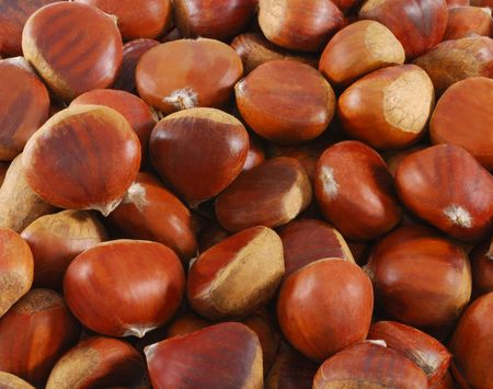 maroni: A close up of chestnut (maroni). Can be used as background.