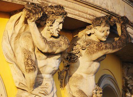Fragment of decoration of Sanssouci palace in Potsdam, Germany Stock Photo - 4423283