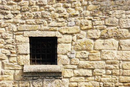 Shot of stone wall with window. Castle in San Marino, Europa. Stock Photo - 4584267
