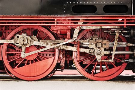 Shot of old steam engine wheels and gear. Stock Photo - 4600081