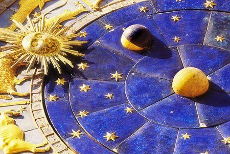Close up astrological clock in Piazza San Marco, Venice