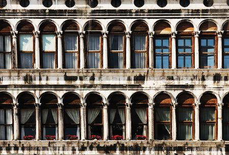 Windows of the Procurators on Piazza San Marco in Venice, Italy Stock Photo - 4706724