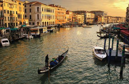Venice, Italy. Canale Grande taken from the Rialto Bridge.