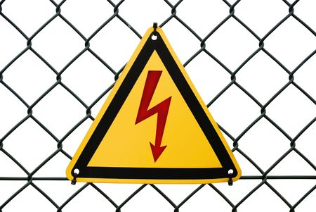 Metal warning sign  Stock Photo - 5414091
