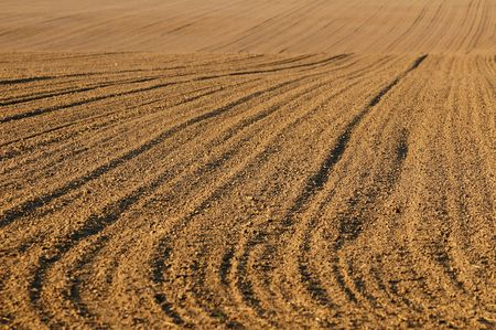 Patterns made in recently ploughed field. Germany, Europe. Stock Photo - 5461963