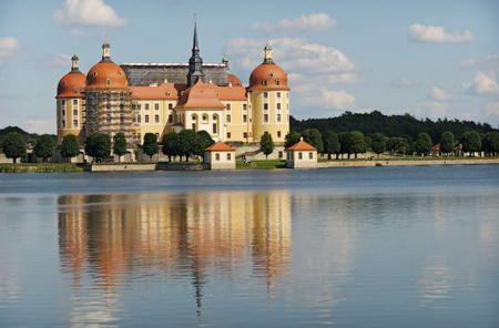 Moritzburg Castle near in Saxony near Dresden, Germany, Europe