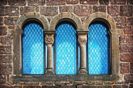 Details of blue window of old castle in Eisenach, Germany Stock Photo - 6409265