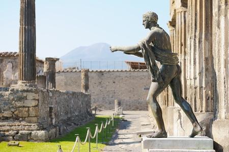 Ruined Temple of Apollo in Pompeii, Italy.