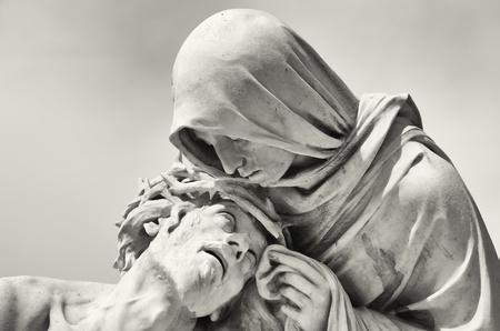 Passion of Christ in front of the Basilica Notre-Dame de la Garde in Marseille, France photo