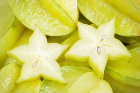 Fresh carambola, can be used as background