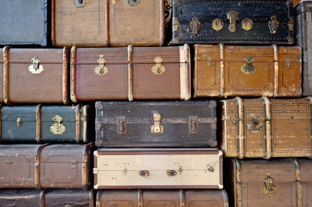 Old luggage  Can be used as background