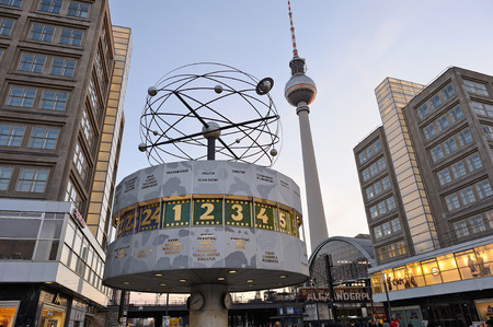 Famous place in Berlin, Germany - World Clock at Alexanderplatz