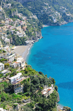 A scenic vertical picture of the Amalfi coast, Italy, Europe