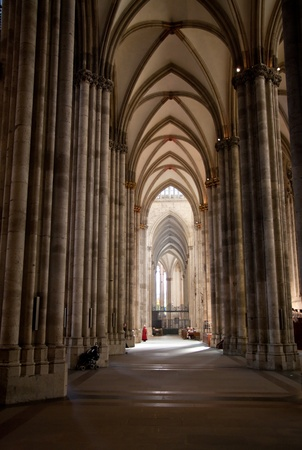 nave: aisle of Cologne dome in Germany Editorial