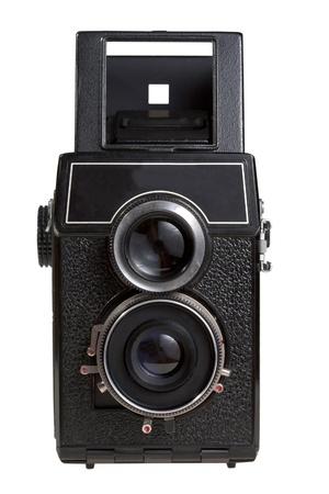 retro foto camera isolated on white photo