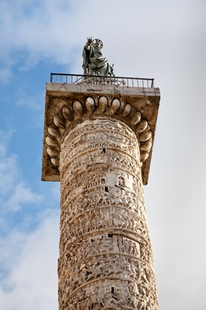 Column of Marcus Aurelius on Piazza Colonna photo