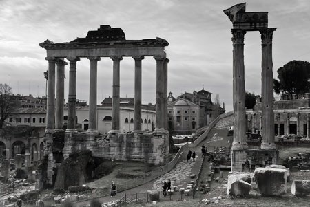 Tempio di Saturno on Capitoline Hill Stock Photo - 8910743