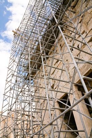 reconstrucci�n del templo del Parten�n de Atenas, Grecia Foto de archivo - 8914198