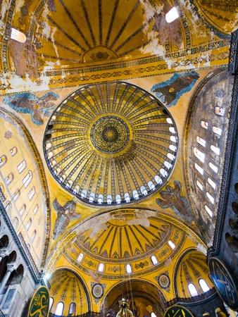 interior and cupola on Hagia Sophia, Istanbul, Turkey Stock Photo - 8914201