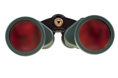 eyepiece: big field binocular isolated on white Stock Photo