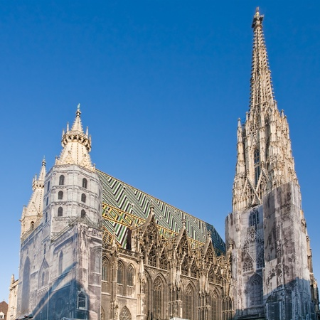 view on St Stephan Cathedral, Vienna, Austria