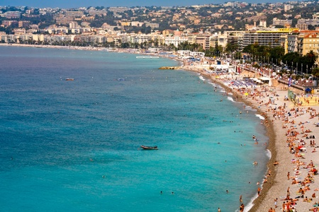 azure coast: NICE, FRANCE - JULY 6: view on famous Azure coast on July 6, 2008 in Nice, France