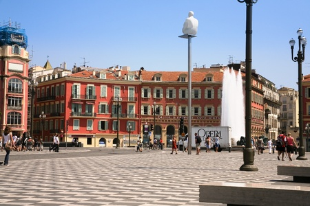 NICE, FRANCE - JULY 11: The Place Maseena is the main square of the city on July 11,2008 in Nice, France