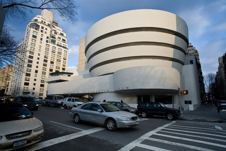 NEW YORK CITY - FEBRUARY 4: The Solomon R. Guggenheim Museum of modern and contemporary art , on February 4, 2010 in  New York City, USA