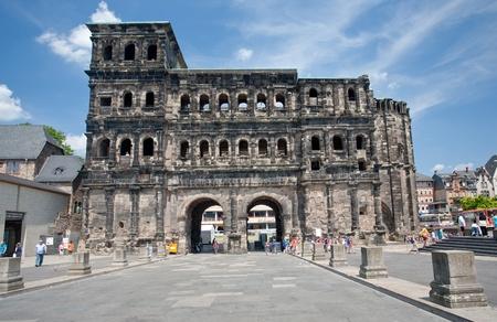 Porta Nigra (antique Roman gate) in Trier, Germany on June 28,2010