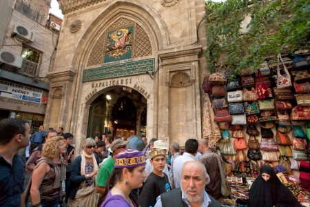 Entrance in Grand Bazaar (Grand Market) on September 14,2010 in Istanbul, Turkey