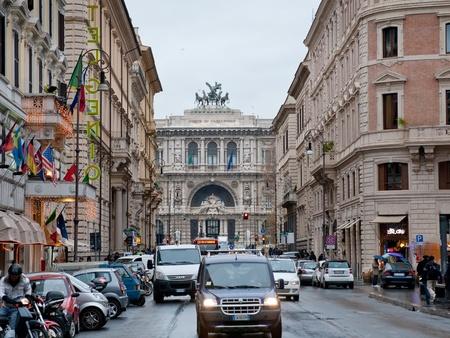 A través de Giuseppe Zanardelli y el Tribunal Supremo de Casación el 19 de diciembre de 2010 en Roma, Italia Editorial